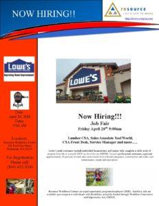 Lowe's Job Fair @ Resource Workforce Center | Richmond | Virginia | United States